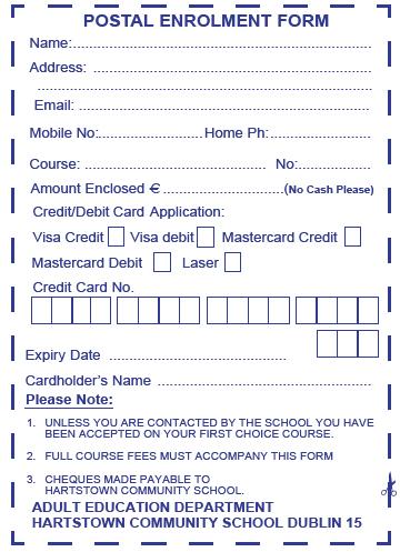 Postal form